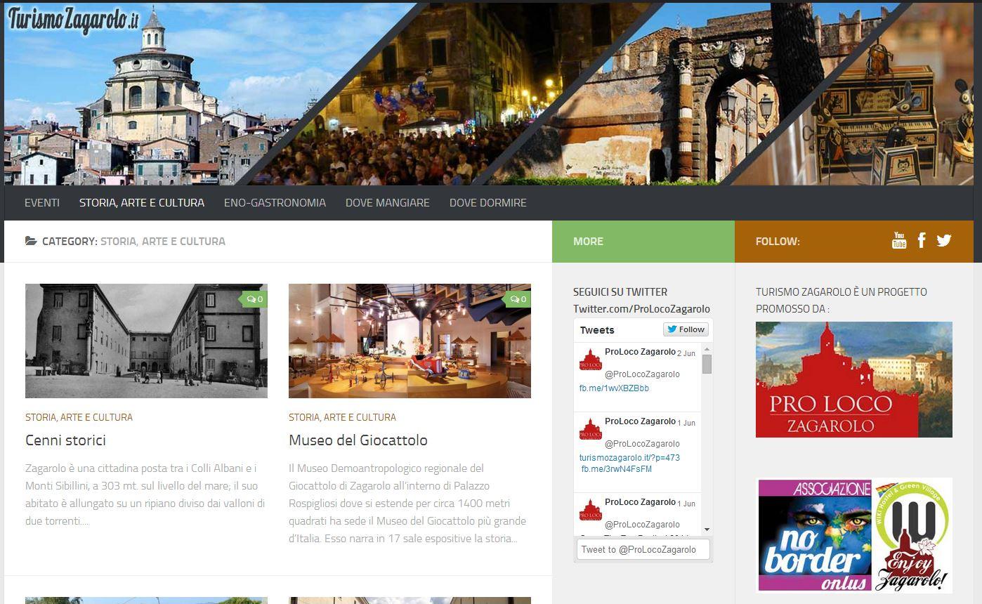 Turismozagarolo.it il sito è online