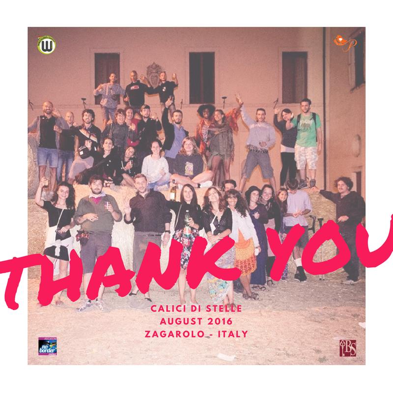 Calici di Stelle 2016: un grazie speciale a tutti i volontari No Border & Pantasema!