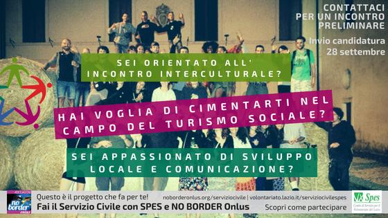 Candidati per il Servizio Civile con No Border! Contribuisci allo sviluppo locale, turistico e interculturale